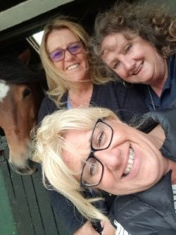 TV star Nanny Stella with Cath Howley, Cath Birtwistle and one of the ponies at HAPPA Burnley