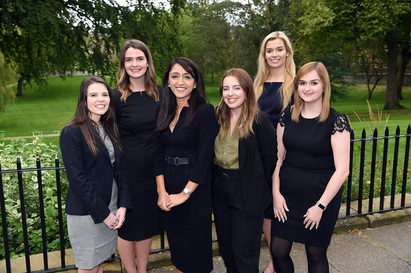 Five new trainees continue Napthens' growth. Bethanie Crawford, Stacy Kinsey, Ashleigh Green, Charlotte Bee and Emily Forrester